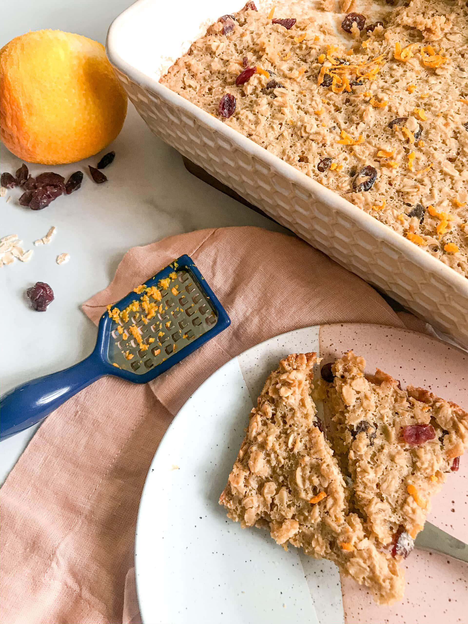 Cran-orange oatmeal
