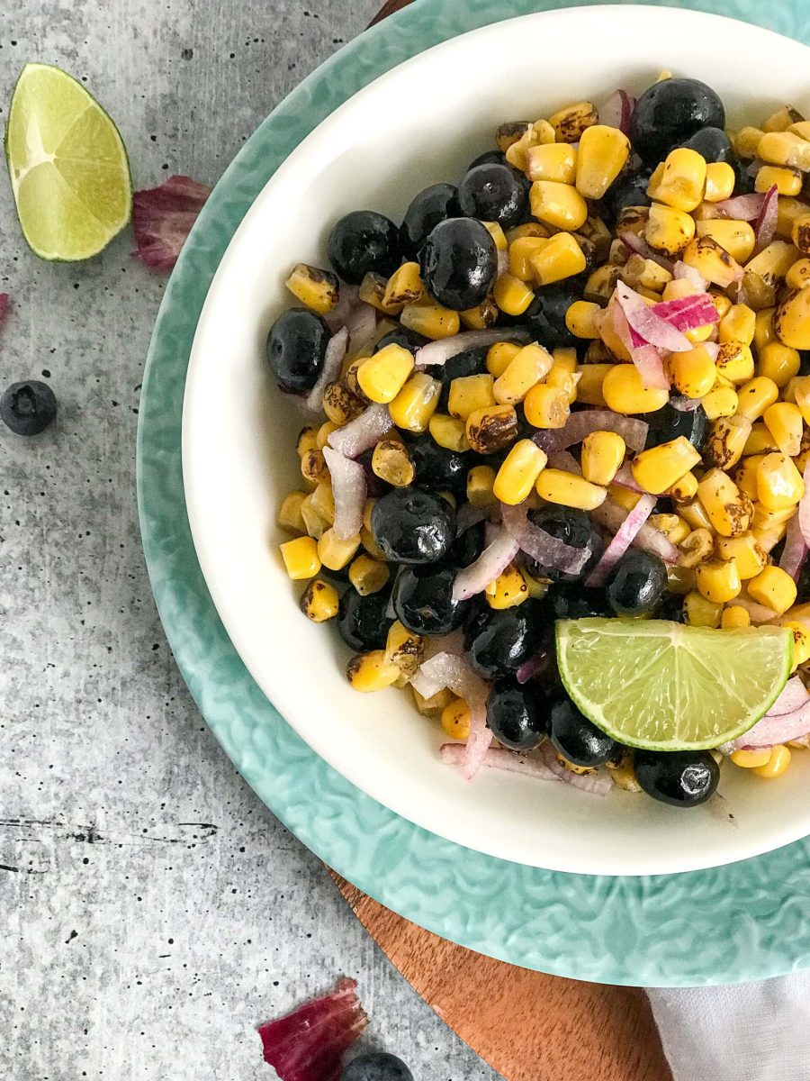 Easy Corn and Blueberry Salsa