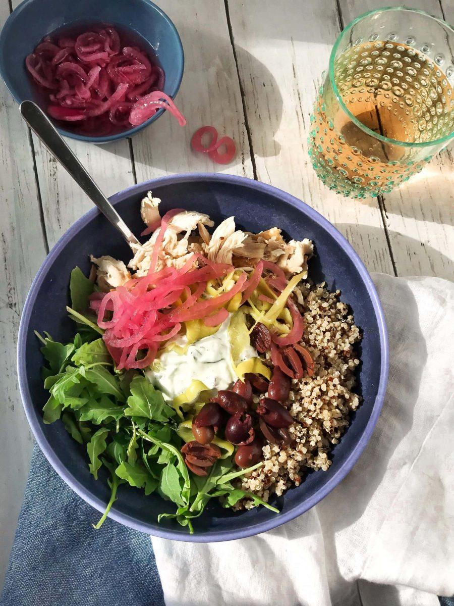 Greek Quinoa Bowl Healthy Meal prep