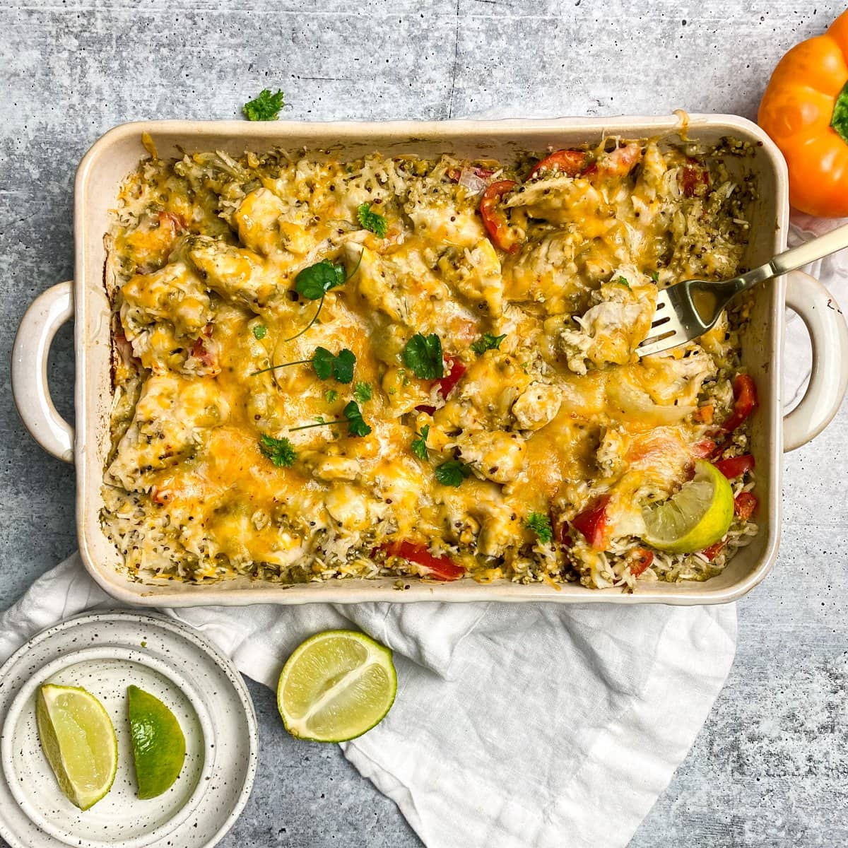 chicken and quinoa fajita