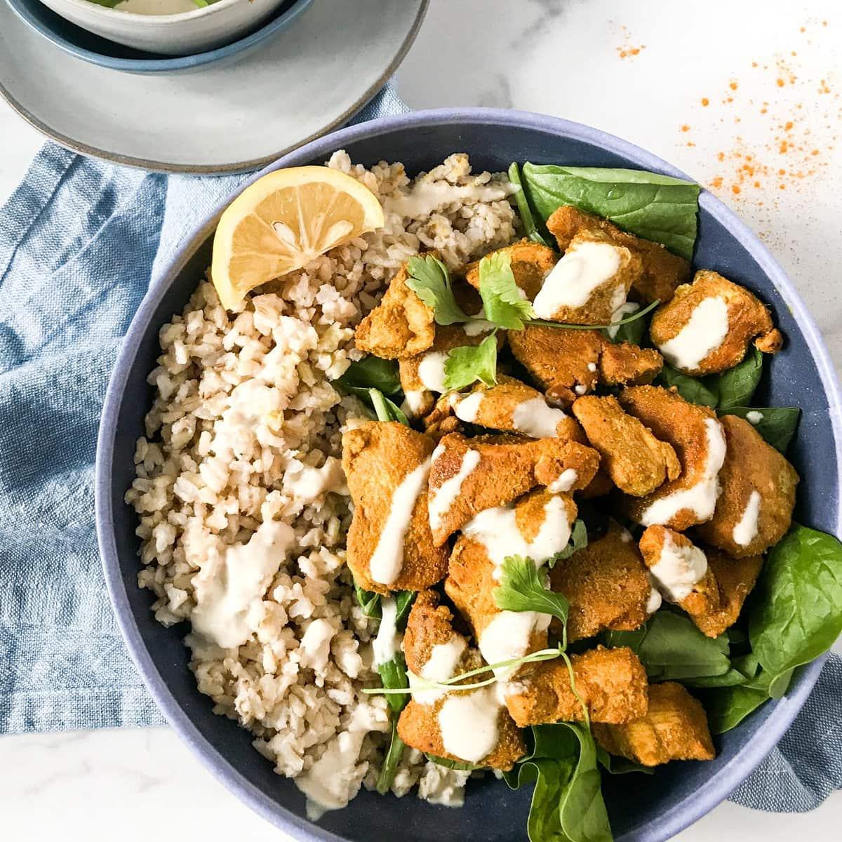 healthy chicken shwarma